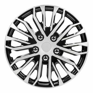 Pilot Automotive 15 Black And Silver Wheel Covers Wh141 15s b Set Of 4
