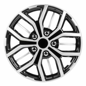 Pilot Automotive 15 Black And Silver Wheel Covers Set Of 4 Wh142 15s B