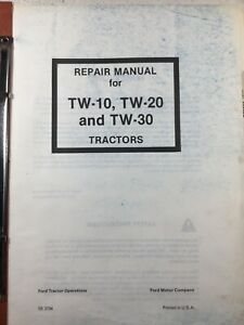 Ford Tw10 Tw20 Tw30 Tractors Repair Manual