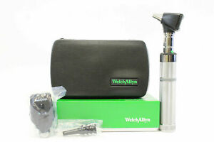 Welch Allyn 3 5v Complete Diagnostic Set With 2 Heads Handle hard Case 97200 bi