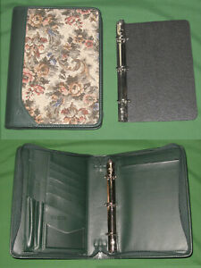 Classic 1 0 Floral Tapestry Faux Leather Day Runner Planner Franklin Covey