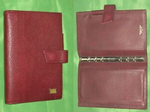 Portable 0 5 Red Leather Day Timer Planner Binder Franklin Covey Compact