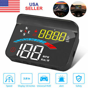 Car Digital Gps Speedometer Head Up Display Overspeed Tired Speed Warning Alarm