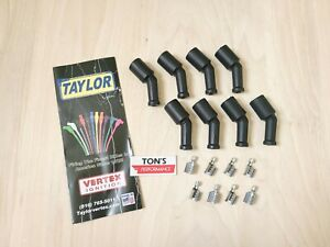 Spark Plug Wire Coil Boot Kit 46069 Black Silicone For Chevy Ls Series