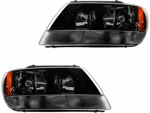 Headlight Assembly Set For 1999 2004 Jeep Grand Cherokee 2003 2000 2001 T468mn