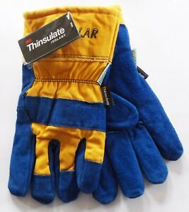3m Mens Thinsulate North Polar Work Gloves Water Proof Leather Canvas 40g New
