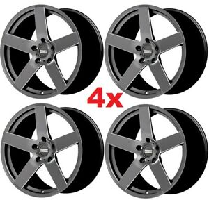 20 Anthracite Gunmetal Wheels Rims Staggered Offset 20x11 20x9
