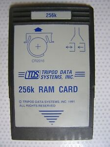 Tds 256k Ram Card For Use With The Calculators Hp 48gx