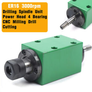 3000 Rpm Er16 Spindle Unit Power Head 4 Bearing For Cnc Milling Drilling Machine