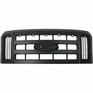 New Grille Textured Black Fits Ford F 250 Super Duty 2008 2010 Fo1200497