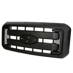 Black Grille Front Radiator Grill For 11 16 Ford F250 F350 Super Duty