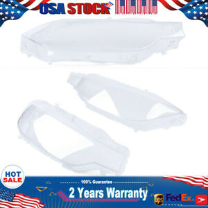 A Pair Of Headlight Lens Covers Fit For 2012 2015 Bmw F30 F31 320i 328i 335i
