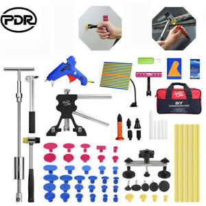 85pcs Pdr Tools Car Body Paintless Dent Removal Puller Lifter Hammer Diy Kit Us