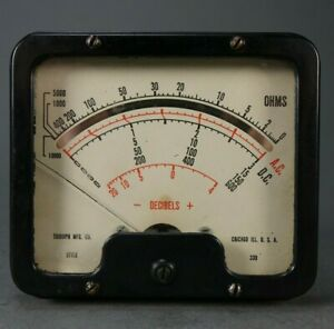 Vintage Triumph Panel Meter Style 330 Decibels Ohms Chicago Illinois