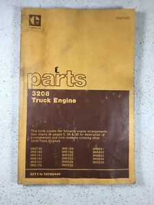 Caterpillar 3208 Engine Parts Book Manual