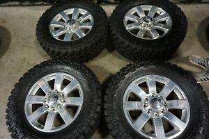 20 Dodge Ram 2500 Longhorn Factory Oem Polished Wheels Rims New 35 Tires 2478a