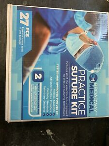 Complete Suture Training Kit With Silicone Pad Suture Vet Nurse Doctor