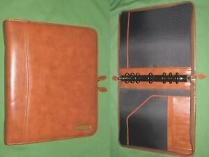 Folio 1 5 Brown Leather Day Timer Planner 8 5x11 Monarch Franklin Covey 310