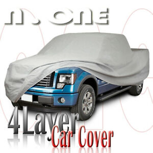 Pickup Truck Multi Layer Car Cover 8 Ft Long Bed Chevy Silverado Ext Crew Cab