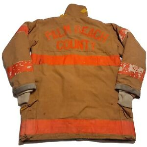 Vintage Morning Pride Firefighter Turnout Bunker Jacket Palm Beach County 96 Fl