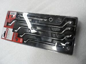 Craftsman Deep Offset Full Polish Sae Wrench Set 5 Pcs 12 Pt Part 44349
