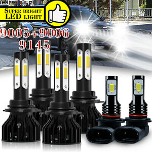 Led Headlight Bulbs Hi low Beam Fog Lights For Jeep Grand Cherokee1999 2001 2002