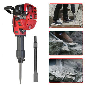 1700w Gasoline Concrete Breaker Demolition Jack Hammer Machion Punch Drill Kit