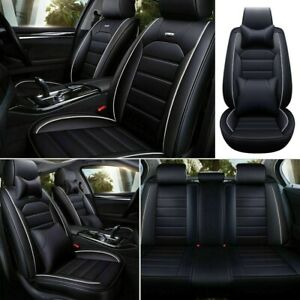 Luxury 5 sit Pu Leather Seat Covers Front rear Cushion Car Accessories Universal