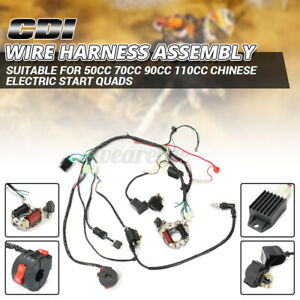 50 70 90 110 125CC CDI WIRE WIRING HARNESS STATOR ASSEMBLY FOR ATV ELECTRIC QUAD