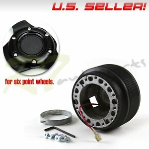 For 84 97 Toyota Corolla Ae86 6 Bolts Direct Fit Steering Wheel Hub Boss Adapter