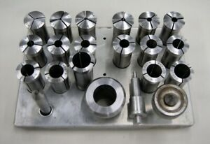 Machinist Lathe Tool South Bend No 5 20 Piece Collet Set W Stand L 3093