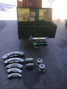 Greenlee 883 Hydraulic Bender 1 1 4 3 Complete Set With Metal Case