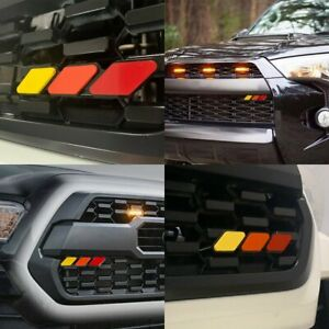 Tri Color Grille Badge Emblem For Toyota Tacoma 4runner Highlander Tundra Ead