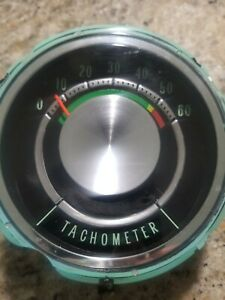 1965 Factory Gm Oem Chevy Impala Ss Supersport Instrument Cluster Tach Option