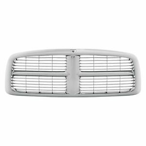 New Chrome Grille For 2002 2005 Dodge Ram 1500 2500 3500 Ch1200271 Ships Today