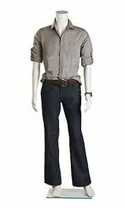Male Headless White Plastic Mannequin Straight Arms