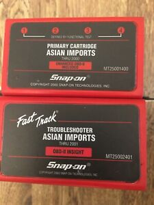 Seldom Used 2000 Asian Cartridges For Mt2500 Snap On Scanner 2001