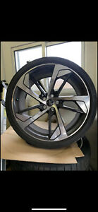 20 Oem Audi Rs5 Forged Black Optic Wheels W Continental Sport Contact 6