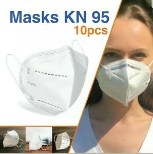 10 Pcs Face Cover Folding Respiratory Protective Mask New