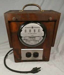Vintage General Electric Company Usa Made Working Outlet Voltage Power Meter