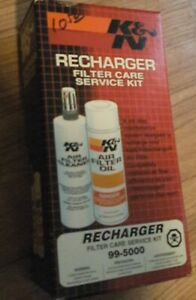 K n Air Filter Cleaning Kit 99 5000 Recharger Restore Spray Cleaner Oil