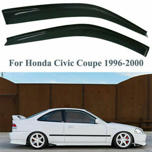 For Honda Civic Coupe 2door Smoke Window Visor Vent Rain Guard 96 97 98 99 00