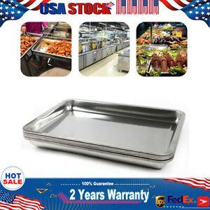 6x Full Size 2 Deep Large capacity Stainless Steam Table Pans For Hotel Buffet