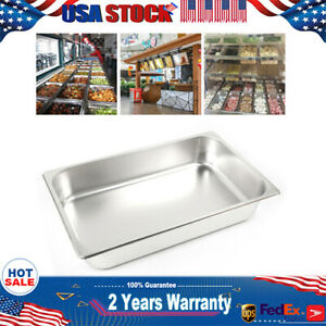 6x Full Size 2 4 Deep 8 5 13l Stainless Anti clog Steam Table hotel Buffet Pans