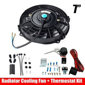 7 Universal Electric Radiator Cooling Fan Thermostat Control Relay Wire Kit