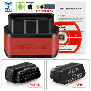 Kw903 Elm327 Wifi Obd2 Car Code Reader Diagnostic Scanner For Iphone Android