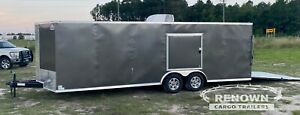 8 5x20 Ta Race Car Hauler Enclosed Cargo Trailer In Stock Now
