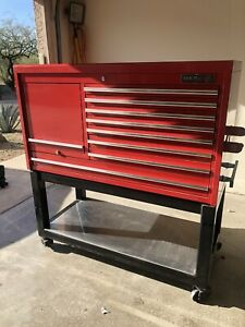 Matco Red Custom Topper With Heavy Duty Rollaway Tool Box Local Pick Up Only
