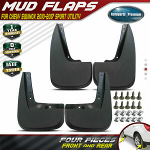 4x Mud Flaps Splash Guards Molded For Chevy Equinox 2010 2017 Front Rear Wheel