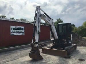 2015 Bobcat E50 Hydraulic Mini Excavator W Cab Thumb Angle Blade Only 1200hrs